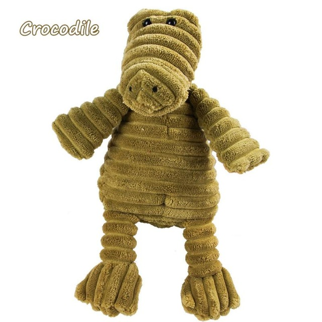 Corduroy Dog Toys for Small Large Dogs Animal Shape Plush Pet Puppy Squeaky Chew Bite Resistant Toy Pets Accessories Supplies 7