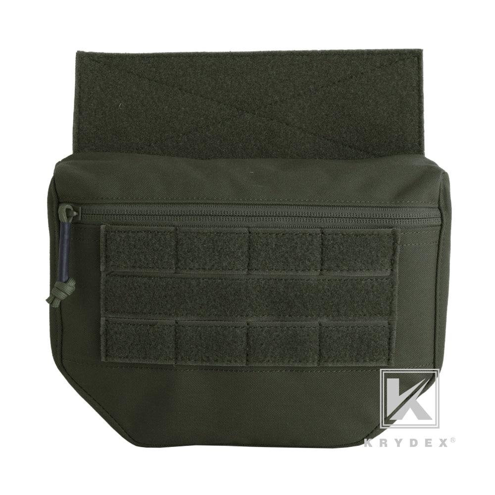 KRYDEX Dump Drop Pouch Fanny Pack RANGER GREEN Tactical Tool Storage Kit Bag For Plate Carrier JPC AVS CPC APC RRV Tactical Vest