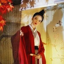Chinese Traditional Folk Dance Costume Women Hanfu Clothing Lady Ancient Swordsm