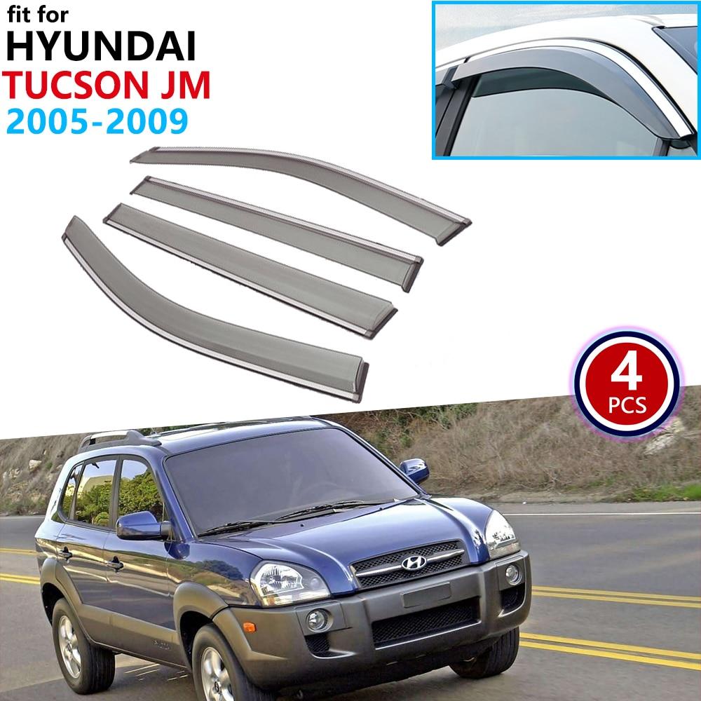 ヒュンダイツーソン Jm 2005 2006 2007 2008 2009 ウィンドウバイザー日よけ雨ガード偏向器サンシールドカバー車のアクセサリー