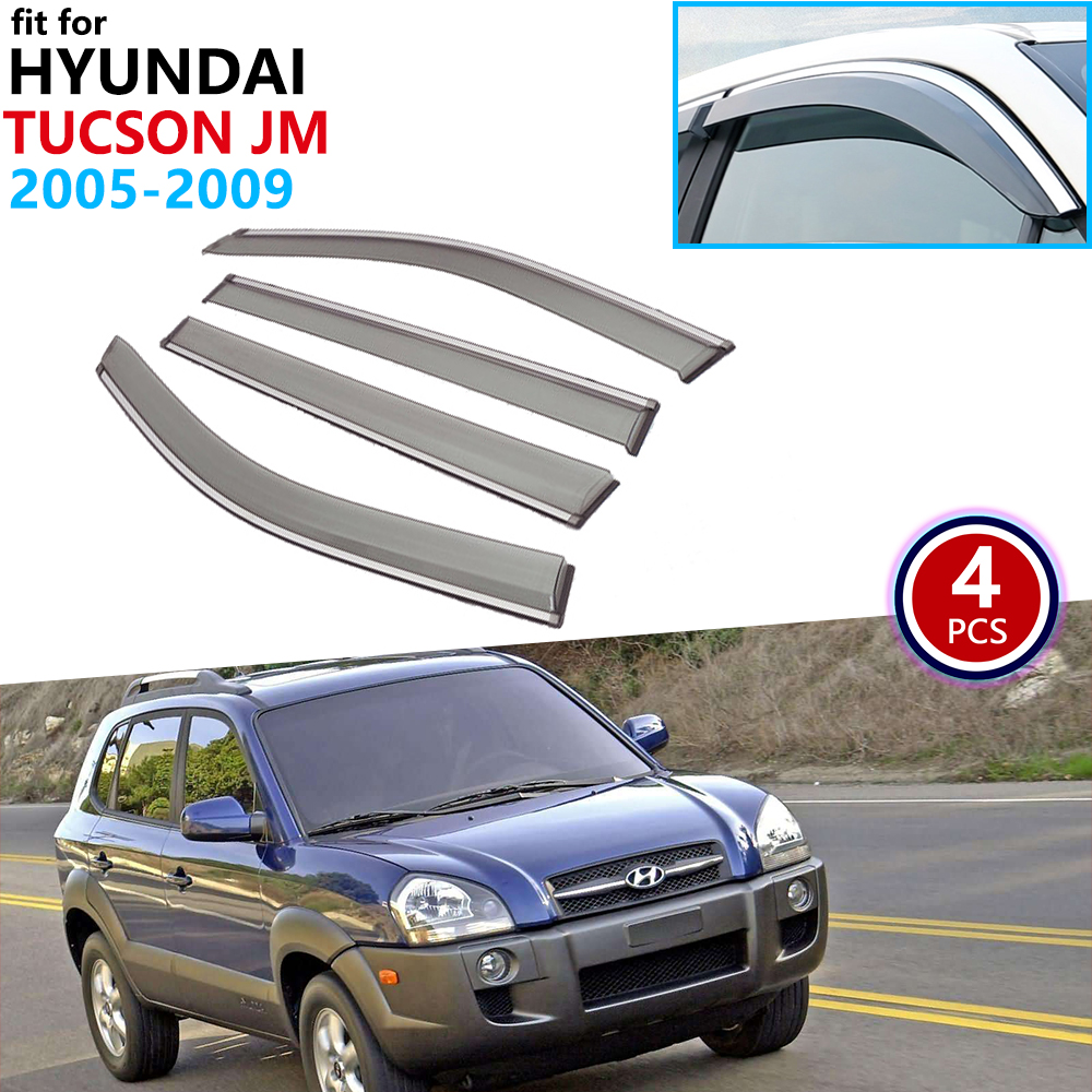 Smoke Window Visors Vents For 01 06 Hyundai Elantra XD