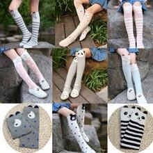 Cartoon Socks for Children Animal Bear Baby Knee High Cotton Socks Long Warmers Socks