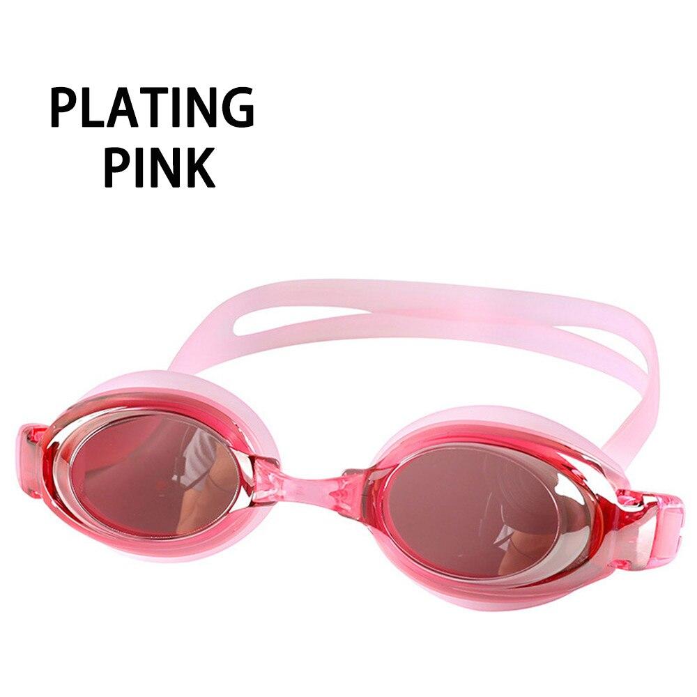 Оптическая близорукость плавательные очки 200-800 градусов Силиконовые противотуманные водная диоптрия плавательные очки для мужчин и женщин очки по рецепту - Цвет: Plating Pink