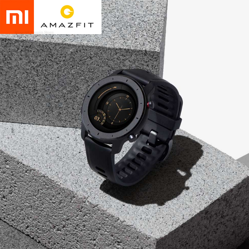 Global Version  Amazfit GTR 47mm Smartwatch 5ATM Waterproof Smartwatch Battery Life 24 Days GPS Music Control With Leather Strap|Smart Watches| |  - AliExpress