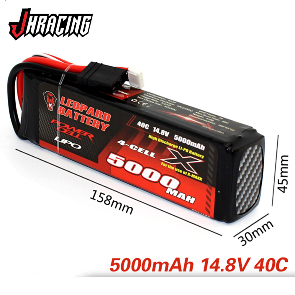 LEOPARD <font><b>5000MAH</b></font> <font><b>4S</b></font> 14.8V 40C high discharge LIPO battery for TRX X-MAXX UDR image