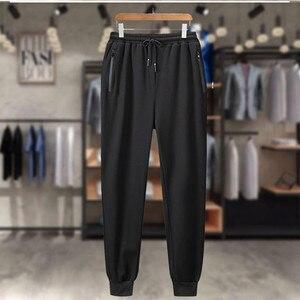 Image 4 - Eşofman erkekler artı boyutu 6XL 7XL 8XL 9XL 2 parça eşofman giysileri erkek spor takımları seti kazak ceket Mens ter parça takım elbise