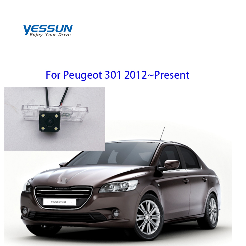 Yessun Auto Car Accessories Night Vision Car Rear View Reverse Backup Camera IP67 For Peugeot 301 2012~Present Vehicle Camera     - title=