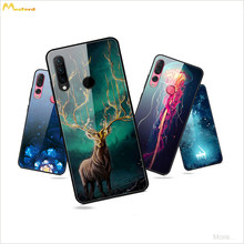 Cases For Lenovo Z6 pro Z5S Z6 Youth Lite Z6pro Phone Cover Cartoon Deer Jellyfish Piano Lotus Patterned Hard Mirror Glass Shell(China)