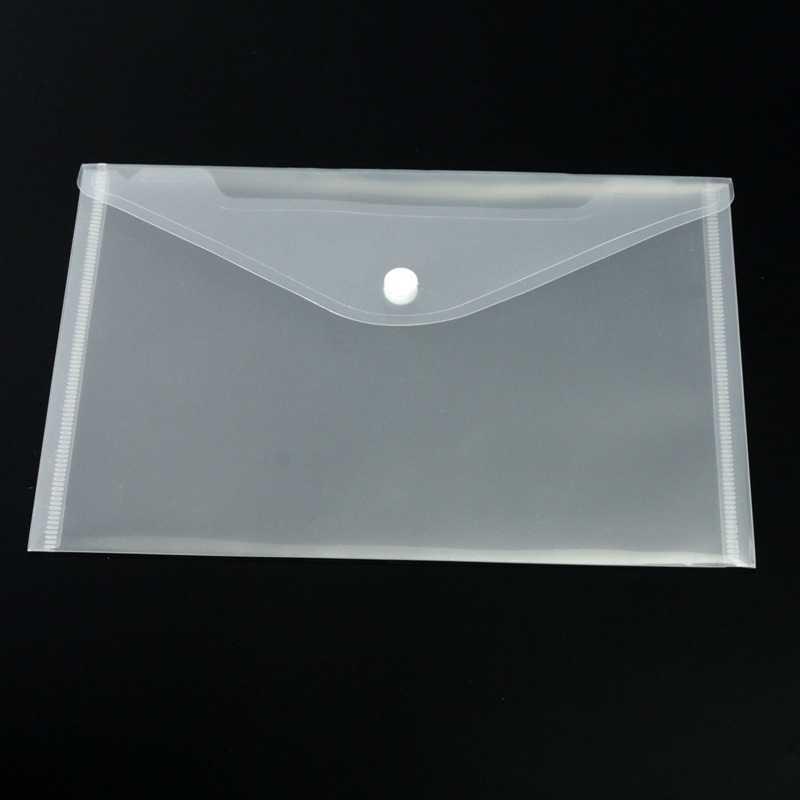12 יח'\סט שקוף פלסטיק A5 תיקיות קובץ תיק מסמך להחזיק שקיות תיקיות הגשת נייר אחסון משרד ציוד לבית ספר
