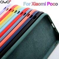 Funda Original de silicona líquida para Xiaomi, funda protectora a prueba de golpes para Poco X3 Pro F3, NFC F1, F2, F3 Pro, M3