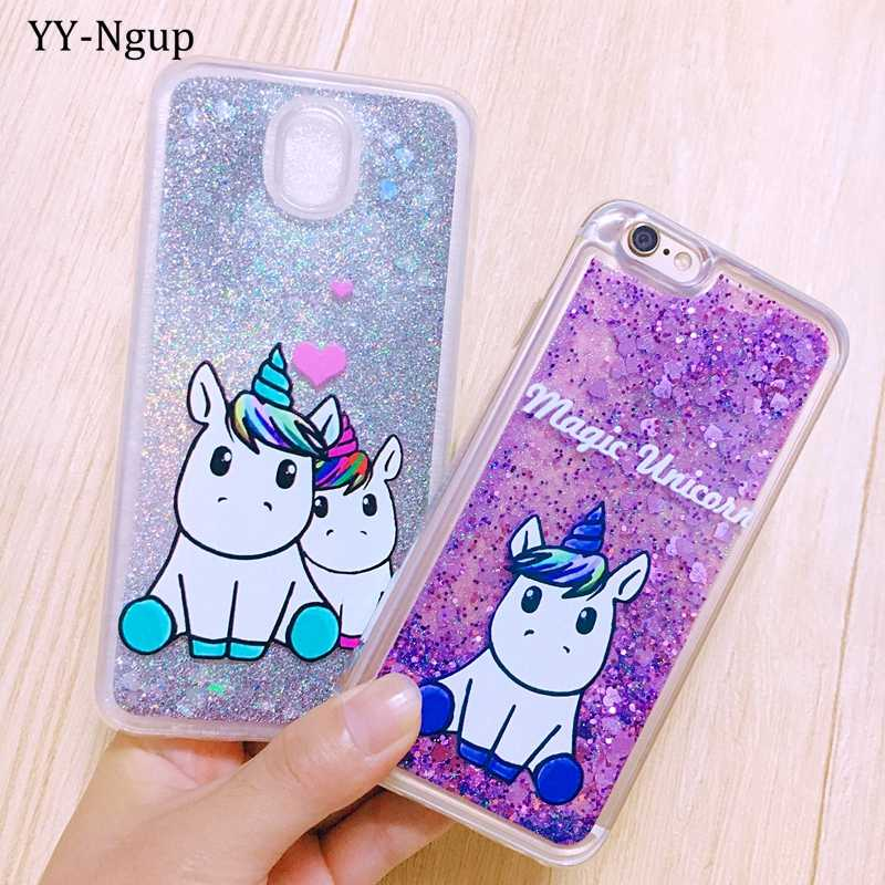 Glitter Case for iPhone 5 5s se Coque iPhone 7 Case Quicksand Cover on for Funda q50