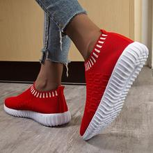 Fashion Sneakers Women Outdoor Mesh Casual Sport Shoes Running Breathable Ladies Slip-On Round