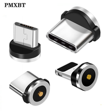 Round Magnetic Cable plug 8 Pin Type C Micro USB C Plugs Fast Charging Phone Magnet Charger Plug For iPhone (Only Magnetic Plug) lemo connector 8 pin plug fhj 2b 308 clld camera alexa mini power plugs d tap b type plug turn