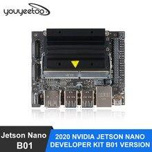 Novo nvidia jetson nano desenvolvedor kit b01 versão linux placa de demonstração aprendizagem profunda placa desenvolvimento ia plataforma
