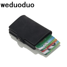 Weduoduo 2019 New style Unisex Business Card Holder RFID Metal Wallet Antitheft Case Aluminium Credit