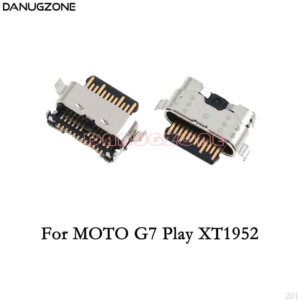 10PCS/Lot For Motorola MOTO G7 Play XT1952 / G7 Power XT1955 USB Charging Dock Connector Charge Port Jack Socket Plug