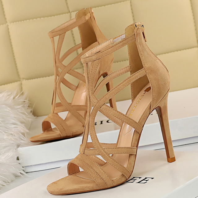 11cm  Roman Sandals Peep Toe Sandals High Heels 2