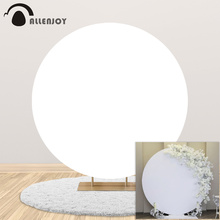 Allenjoy Solid Color Circle Backdrop Black White Birthday Baby Showr Round Banner Event Photography Photozone Party Background