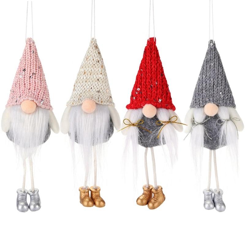 Noel yüzü olmayan bebek yılbaşı süsleri mutlu noel süslemeleri ev için noel ağacı asılı dekorlar Navidad noel hediyeleri