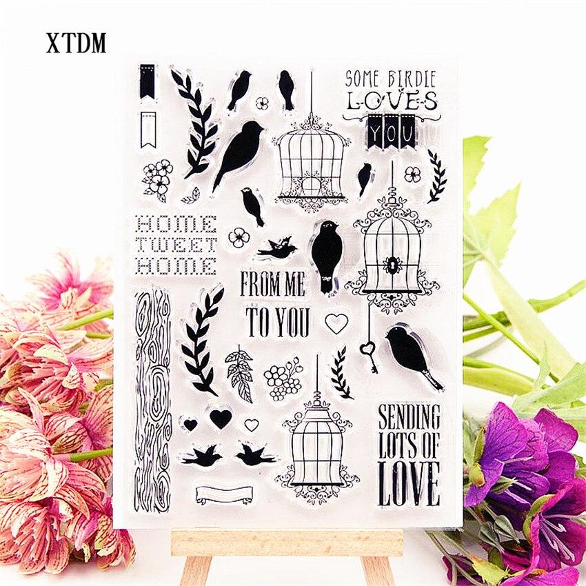 Хит продаж, прозрачный штамп в виде птичьей клетки, силиконовый альбом для скрапбукинга «сделай сам», изготовление открыток