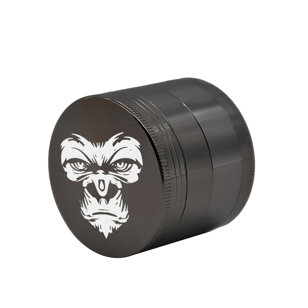KING KONG Herb Grinder 4 Layers 50 MM Zinc Alloy With Sharp Diamond Teeth Tobacco Metal Herb Crusher Spice Mill Muller 5