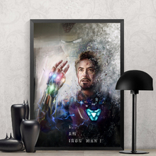 цена The Avengers Endgame Movie Iron Man Captain America Canvas Poster Decor Print Painting Wall Art for Bar Cafe Living Room Bedroom онлайн в 2017 году