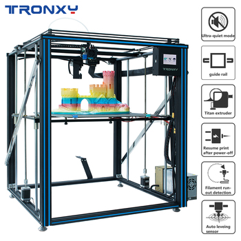цена на Tronxy 3D X5SA-500 Pro Upgraded 3D Printer FDM Linear Guide 3.5inch Full Color TouchScreen Large Size Ultra-quiet Auto Leveling