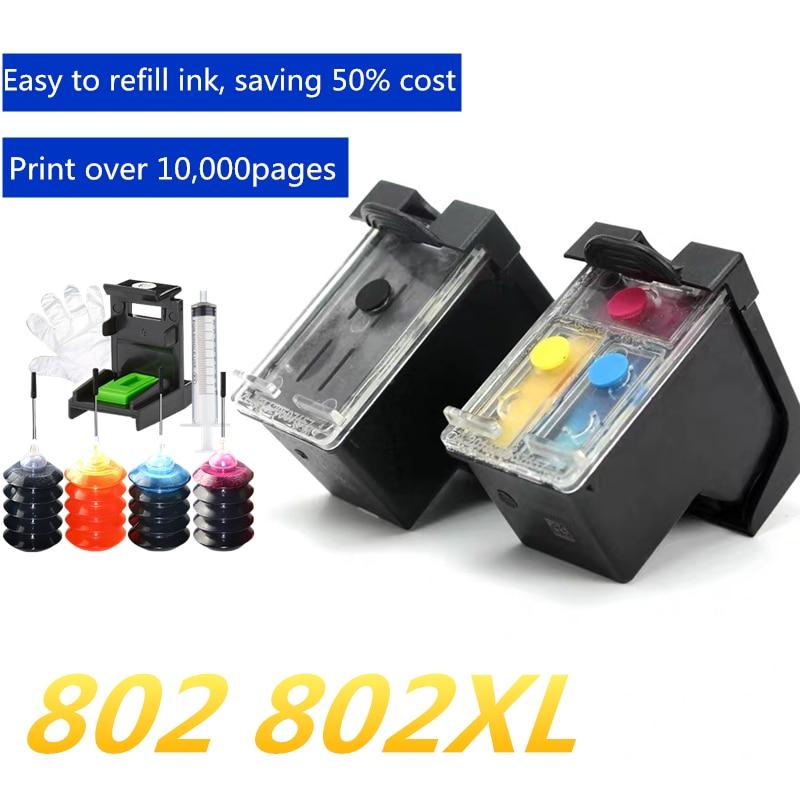 Navulbare cartridge vervangen Voor HP 802 802xl Deskjet 1510 1000 1010 1050 1511 2000 2050 3050 3512 4500 J110a j210a J510a-in Inktpatronen van Computer & Kantoor op AliExpress - 11.11_Dubbel 11Vrijgezellendag 1