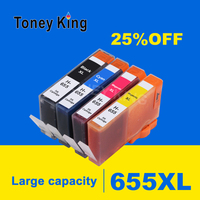 5Pcs for HP 655 Ink Cartridges for HP655 Cartridge 655XL Deskjet 6520 6525 6625 3525 4615 4625 5525 Printers Inkjet Printer|Ink Cartridges| |  -