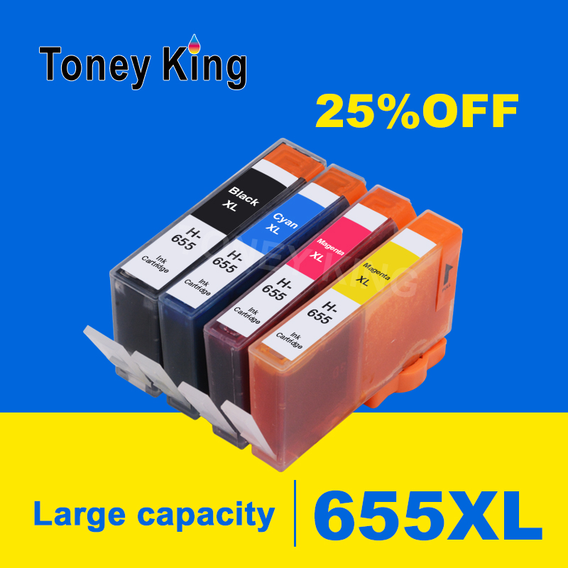 5Pcs for HP 655 Ink Cartridges for HP655 Cartridge 655XL Deskjet 6520 6525 6625 3525 4615 4625 5525 Printers Inkjet Printer image