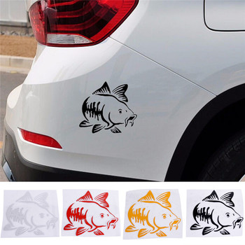 Carp Fishing Car Vinyl Decal Art Sticker Kayak Fishing Car Truck Boat Tribal Car Sticker Accessories 14*14 CM image