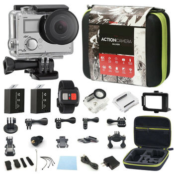 4K Action Camera Dual Screen Ultra HD 16MP Camcorder Sports Cam Camera 4k+ Remote + Accessory Bundle 8