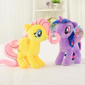 Hasbro My Little Pony Soft Plush Doll PP Cotton Stuffed Animal Unicorn Twilight Sparkle Rainbow Dash Applejack Girl Kids Toy my little pony 22cm toy stuffed pony toy doll pinkie pie rainbow dash movie