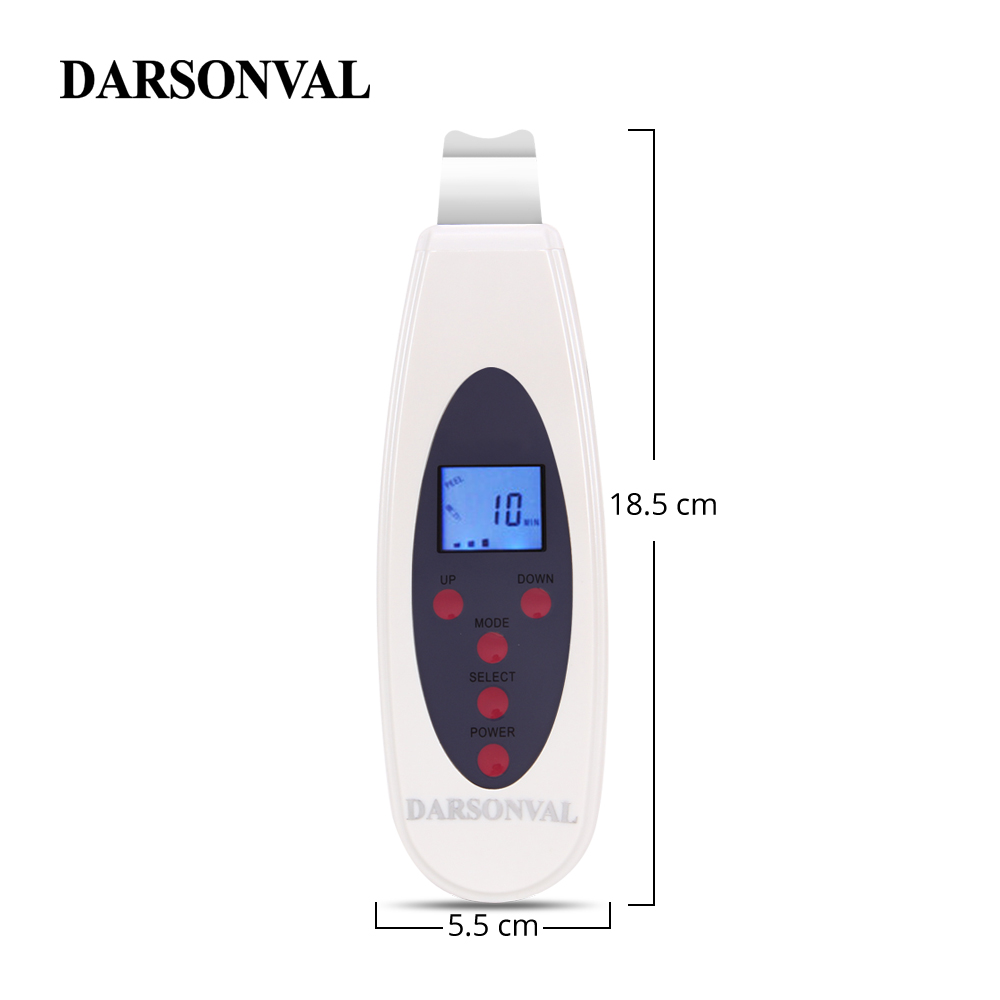 Image 5 - DARSONVAL LCD Face Scrubber Ultrasonic Face Cleansing Tool Skin Peeling Ultrasonic Facial Dermabrasion Acne Blackhead Remover-in Face Skin Care Tools from Beauty & Health