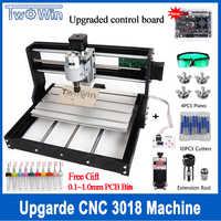 Atualize cnc 3018 pro grbl controle diy mini máquina cnc 3 eixos pcb fresadora roteador de madeira gravura a laser com offline