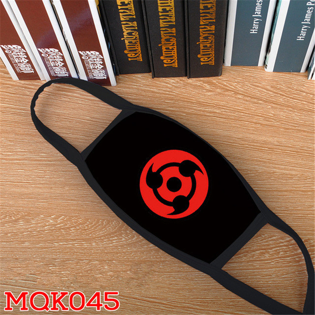 Anime NARUTO Uchiha Itachi Cosplay Mask Konoha Akatsuki Red Cloud Symbol Child Adult Street Sports Half Face Dust-Proof Masks 3