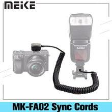 Meike MK-FA02 3M 118 cali TTL Flash Light Synchro kabel przewód Off kamera MI wielu interfejs kabel do synchronizacji dla Sony A7 Godox V860ii