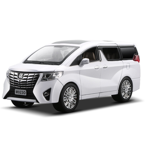 Image 3 - NEW 1:24 1:32 Toyota Alphard Luxury Business Car Model Alloy Pull Back Diecasts Toy Vehicles 6 doors can be opened Free Shipping