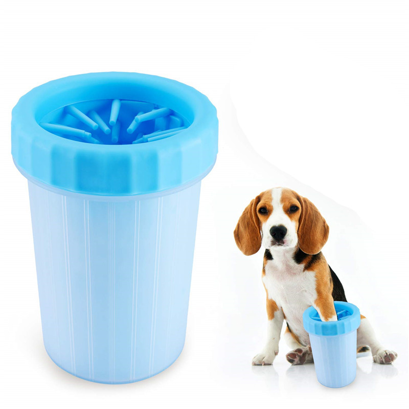 Dog Paw Cleaner Cup Soft Silicone Combs Portable Pet Foot Washer Cup Paw Clean Brush Quickly Wash Dirty Cat Foot Cleaning Bucket
