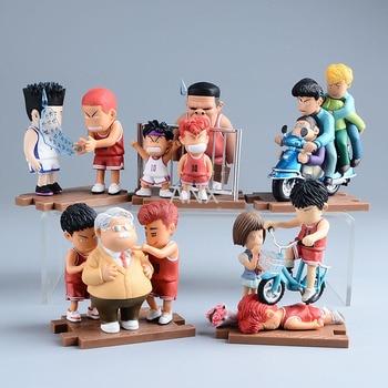 цена на 5PCS 10CM Slam Dunk Kaede Rukawa Figure PVC Action Anime Scene Model Toy Hanamichi Sakuragi Figure Collection Gift