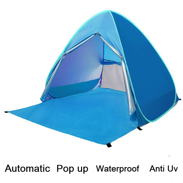 Automatic Instant Pop Up Beach Tent Camping Waterproof Cabin Outdoor Tent 2 Person Tent Lightweight Uv Protection Shelter image