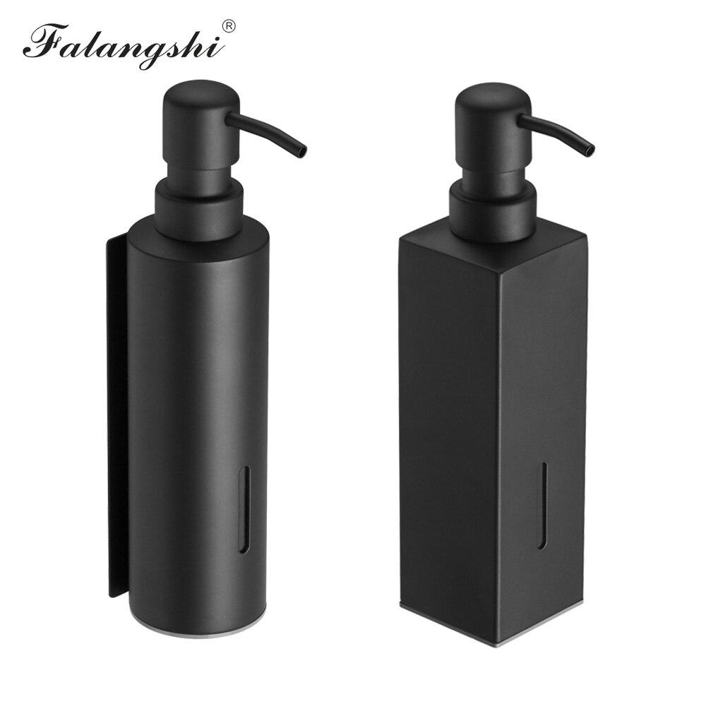 Дозатор для жидкого мыла черный Цвет аксессуары для ванной комнаты 304 диспенсер для мыла из нержавеющей стали бутылки дозатор для шампуня д...