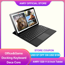 ANRY S20 Android Tablet 11,6 Zoll Touchscreen Tablet PC Deco Core MTK6797T X25 Prozessor Wifi GPS 4G Anruf 13MP Cameral