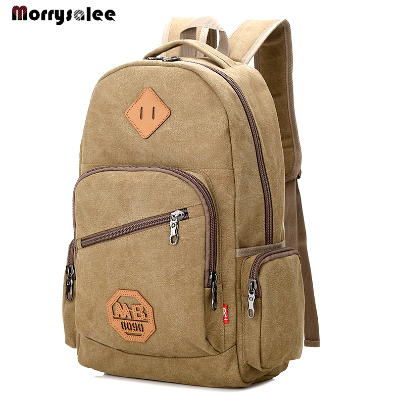2020 New Vintage Fashion Man's Canvas Backpack Fashion Travel Schoolbag For Students  Male Large Capacity Shoulde Bag