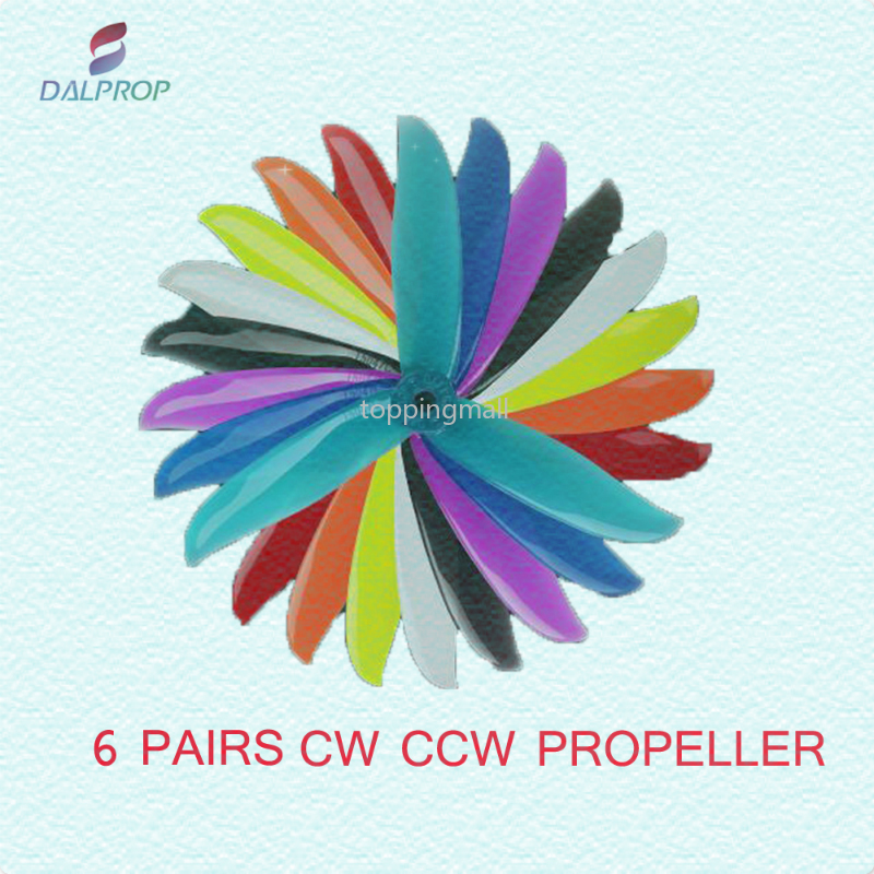 6 Pairs DALPROP CYCLONE T5047C 5047 5*4.7*3 3-blade POPO Propeller CW CCW for RC Drone FPV Racing Models DIY Accessory