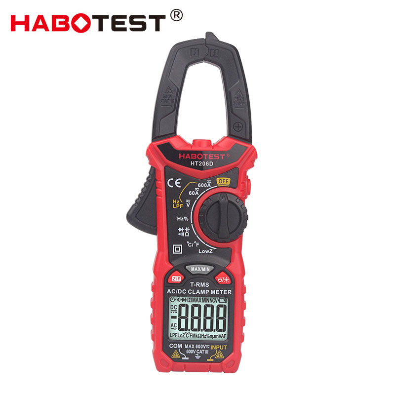 Habotest HT206D AC DC digital clamp meter multimeter pinza amperimetrica|Clamp Meters| |  - title=