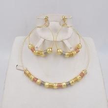 גבוהה באיכות Ltaly 750 אופנה זהב צבע להתנדנד עגילי לערבב צבע שרשרת תכשיטי סט לנשים מתכת המפלגה תכשיטי סט 2020