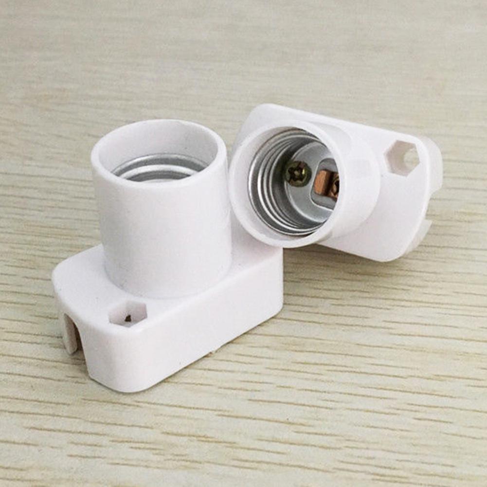 MeterMall High Quality White Square Lamp Holder For E17 LED Light Bulbs Aging-Test Light Base