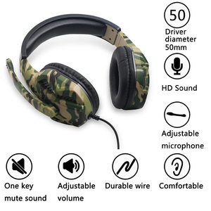 Image 3 - New 3.5mm Camouflage Gaming Headset Professional Gamer Stereo Head mounted Headphone Computer Earphones for PS4 PS3 Xbox Switch