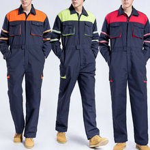 Men's One-piece Boilersuit jumpsuit long sleeves dust-proof Coveralls Overall Workshop Uniforms B60